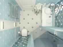 Квартира «Уютная квартира для семьи с 4-мя детьми», ванная . Фото № 27701, автор Efimovykh Elena