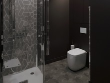 Квартира «Квартира для холостяка», ванная . Фото № 27829, автор Борт Виталий