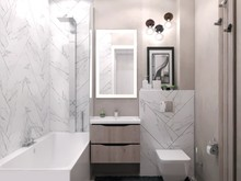 Квартира «Современная квартира-студия», ванная . Фото № 27844, автор Сафронова Юлия