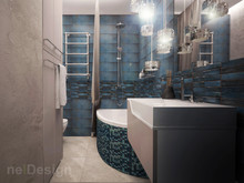 Квартира «Дизайн-проект квартиры 45 кв.м. в Москве», ванная . Фото № 27963, автор Полунина Екатерина