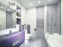Квартира «Квартира на улице Березовая роща», ванная . Фото № 27974, автор Андреевы Андрей и Екатерина