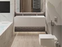 Квартира «Квартира в ЖК Остров», ванная . Фото № 28000, автор Гусева Ольга