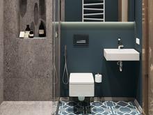 Квартира «Квартира в ЖК Остров», ванная . Фото № 28001, автор Гусева Ольга