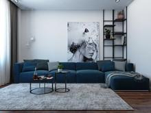 Квартира «Кухня и гостиная в современном стиле», гостиная . Фото № 28017, автор Дуквен Ольга