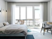 Квартира «Апартаменты 27 м кв в Севастополе», спальня . Фото № 28024, автор Дуквен Ольга