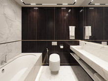 Квартира «Апартаменты в ЖК Николаевский ансамбль, 150 м.», ванная . Фото № 28043, автор Жданов Евгений