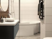 Квартира «Дизайн-проект двухкомнатной квартиры в ЖК Евросити», ванная . Фото № 28049, автор Дуквен Ольга