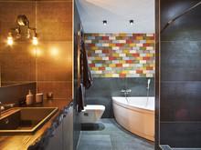 Квартира «СОЧНЫЙ ЛОФТ», ванная . Фото № 28054, автор Дорофеева Евгения