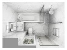 Квартира «ЖК Остров, Location: Saint Petersburg, Year: 2018», ванная . Фото № 28058, автор Еремина Татьяна