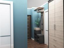 Квартира «Двухкомнатная квартира в пастельных тонах», прихожая . Фото № 28061, автор Полищук Кристина