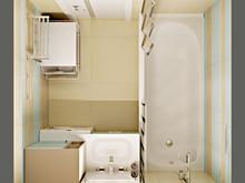 Квартира «Двухкомнатная квартира в пастельных тонах», ванная . Фото № 28063, автор Полищук Кристина
