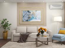 Квартира «Двухкомнатная квартира в пастельных тонах», гостиная . Фото № 28059, автор Полищук Кристина