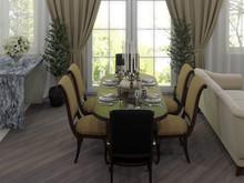 Квартира «Классический интерьер с яркими акцентами», столовая . Фото № 28117, автор Сафронова Юлия