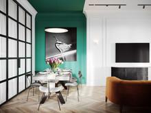 Квартира «INSPIRATION», столовая . Фото № 28121, автор Ляпина Екатерина