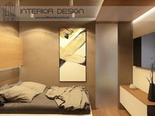 Квартира «Квартира для молодой семьи с двумя детьми», спальня . Фото № 28129, автор Сытник Евгения