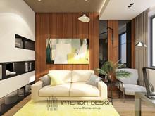 Квартира «Дизайн двухуровневой квартиры для молодой семьи», кабинет . Фото № 28141, автор Сытник Евгения