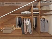 Квартира «Дизайн двухуровневой квартиры для молодой семьи», гардеробная . Фото № 28143, автор Сытник Евгения