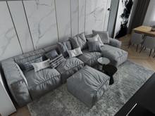 Квартира «ЖК Пресненский вал 14», гостиная . Фото № 28147, автор Митрошкин Артур