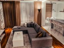 Квартира «Квартира джентельмена», гостиная . Фото № 28186, автор дизайн-группа AstudioDesign