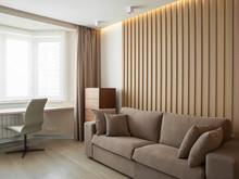 Квартира «Однокомнатная квартира для молодой пары», гостиная . Фото № 28197, автор Афанасьева Татьяна