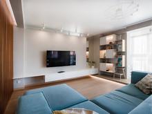 Квартира «БИРЮЗОВЫЙ АКЦЕНТ», гостиная . Фото № 28274, автор Старикова Ольга