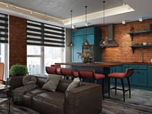 Квартира «Лофт на Союзном проспекте», гостиная . Фото № 28297, автор Fisheye Architecture & Design   Александр