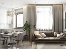 Квартира «Фьюжн на Заозёрной», гостиная . Фото № 28310, автор Fisheye Architecture & Design   Александр