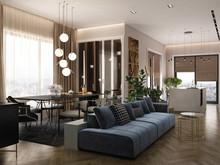 Квартира «Проект квартиры  Вокруг света», гостиная . Фото № 28319, автор Fisheye Architecture & Design   Александр