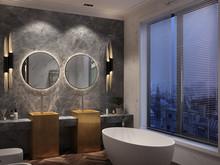 Квартира «Проект квартиры  Вокруг света», ванная . Фото № 28322, автор Fisheye Architecture & Design   Александр