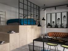 Квартира «Квартира студия для молодого человека», гостиная . Фото № 28342, автор Нестеренко Юлия