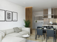 Квартира «Эко-минимализм на Смольном Проспекте», гостиная . Фото № 28347, автор Fisheye Architecture & Design   Александр