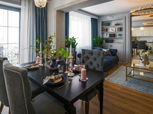 Квартира «Квартира 90 кв.м. в г.Димитровград », столовая . Фото № 28354, автор Удзилаури Светлана
