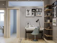 Квартира «Маленькая квартира для студентки», кабинет . Фото № 28365, автор Нестеренко Юлия