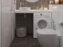 Квартира «Студия для мужчины в ЖК Май», ванная . Фото № 28492, автор Бойцова Ольга