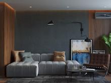 Квартира «Студия для мужчины в ЖК Май», гостиная . Фото № 28491, автор Бойцова Ольга