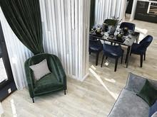 Квартира «Благородный синий в квартире г. Казань.», гостиная . Фото № 28570, автор Гаязова Нелли