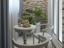 Квартира «Дизайн-проект квартиры в Ялте», веранда лоджия . Фото № 28607, автор Дуквен Ольга