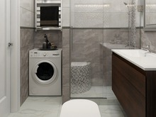 Квартира «Дизайн-проект квартиры в Ялте», ванная . Фото № 28609, автор Дуквен Ольга