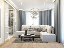 Квартира «Дизайн-проект квартиры в Ялте», гостиная . Фото № 28605, автор Дуквен Ольга