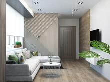 Квартира «Дизайн-проект двухкомнатной квартиры», гостиная . Фото № 28616, автор Дуквен Ольга