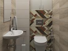 Квартира «Дизайн-проект двухкомнатной квартиры», ванная . Фото № 28620, автор Дуквен Ольга