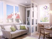 Квартира «Дизайн-проект апартаментов», гостиная . Фото № 28623, автор Дуквен Ольга