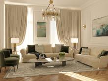 Квартира «Квартира в Москве», комната отдыха . Фото № 28649, автор Болотный Евгений