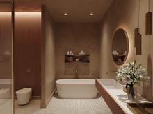 Квартира «Квартира в Москве», ванная . Фото № 28647, автор Болотный Евгений