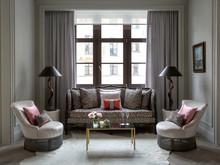 Квартира «Квартира в ЖК Итальянский квартал в Москве», гостиная . Фото № 28659, автор Филиппова Марина