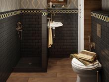 Квартира «Интерьер в духе американской классики», ванная . Фото № 28685, автор Воробьева Анна