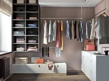 Квартира «Стильное пространство для всей семьи», гардеробная . Фото № 28692, автор Воробьева Анна