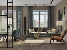 Квартира «Стильное пространство для всей семьи», гостиная . Фото № 28686, автор Воробьева Анна