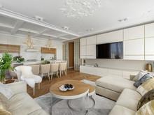 Квартира «Легкая нео-классика», гостиная . Фото № 28698, автор Воеводина Татьяна