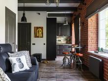 Квартира «Маленький лофт для нее», гостиная . Фото № 28734, автор Саркисян Марина